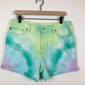 Vintage Ralph Lauren Custom Tie Dye Mom Shorts
